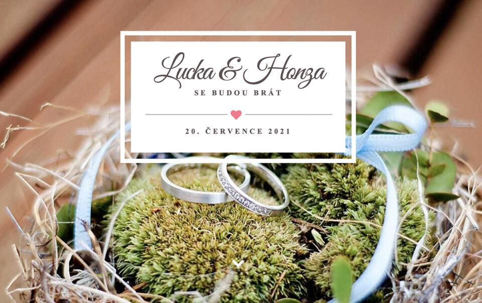 Moderní svatební oznámení