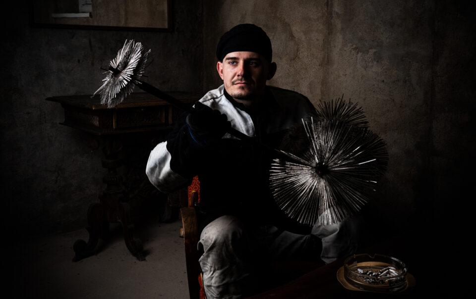 Řemeslný projekt - Kominík Standa - Profesní portrét - Fotograf Radek Vandra