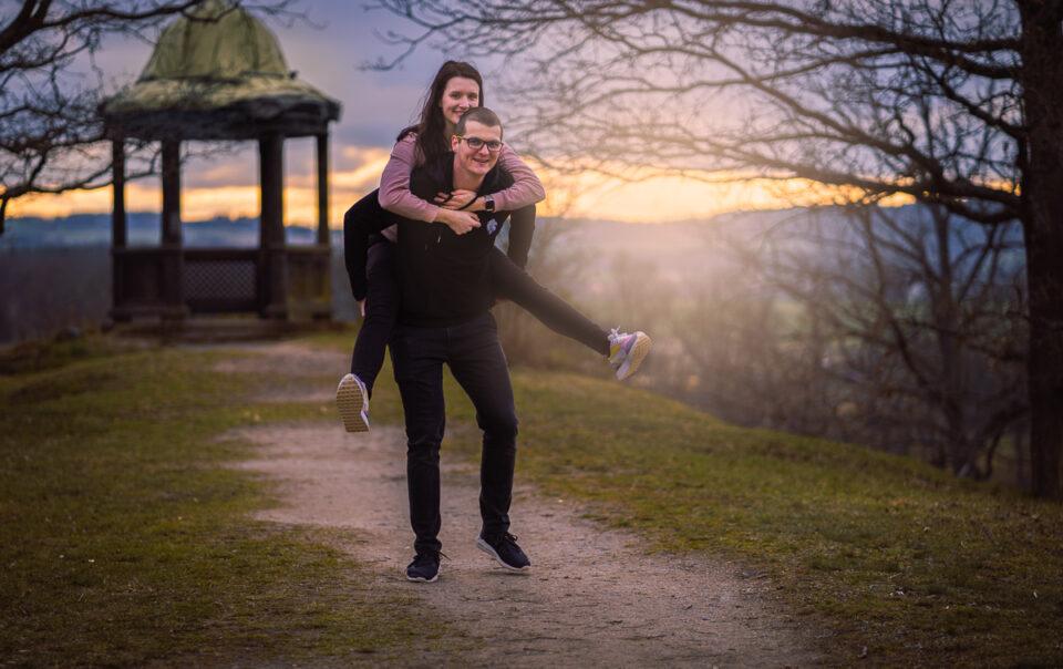 Párové focení na zámku Kozel s Maruškou a Petrem - Fotograf Radek Vandra